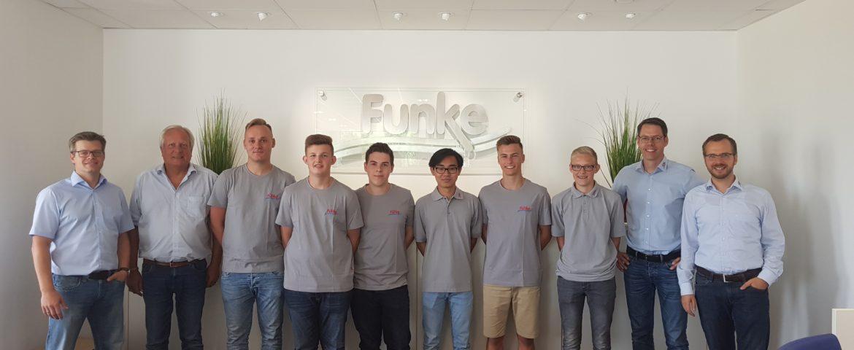 Team Funke begrüßt die neuen Azubis für das Jahr 2018